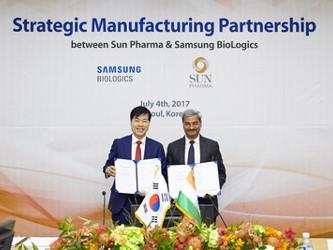 Dr.TH Kim, CEO of Samsung BioLogics and Anil Kumar Jain, CEO of Sun Pharma