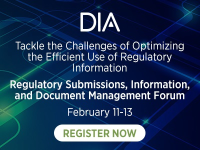 Regulatory Submissions, Information, and Document Management Forum