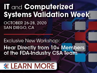IT and Computerized Systems Validation Week